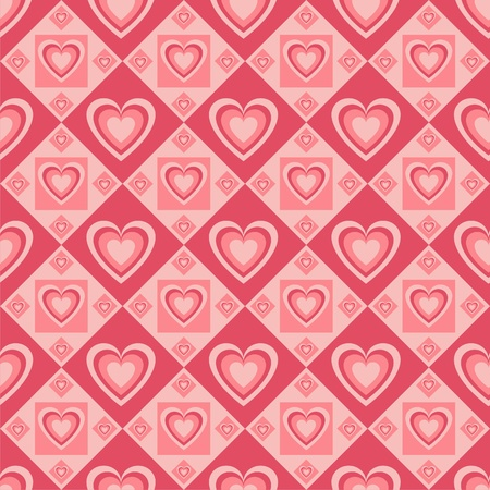 cute pink hearts pattern Stock Vector - 12025436