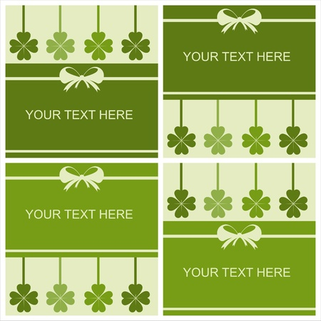 set of 4 cute st. patrick's day cards Stock Vector - 12025433