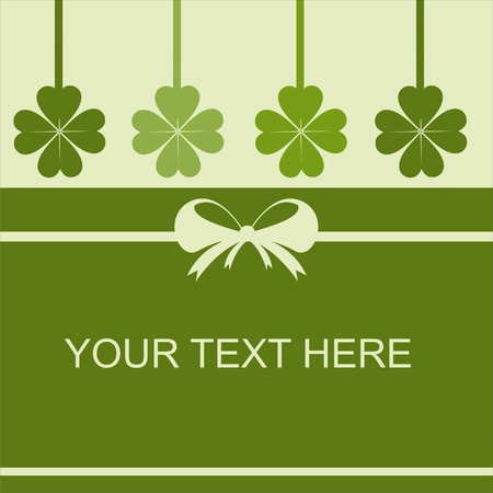 cute st. patrick day card Vector
