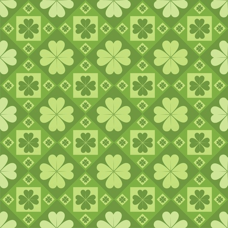 cute clovers pattern Illustration