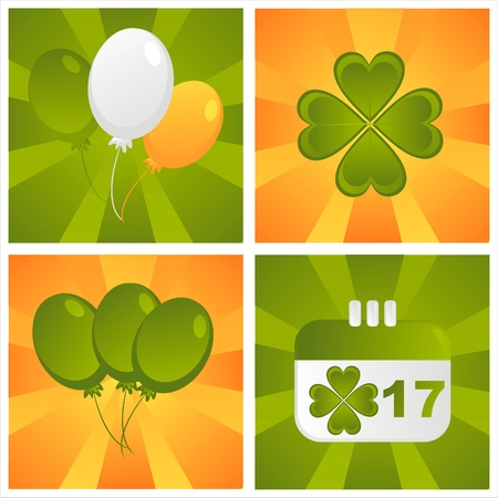 set of 4 st. patrick day backgrounds