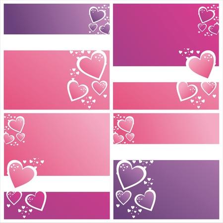 st valentine: juego de 4 � colorido. valentine antecedentes d�as Vectores