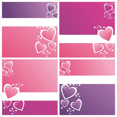 set of 4 colorful st. valentine  day backgrounds Illustration