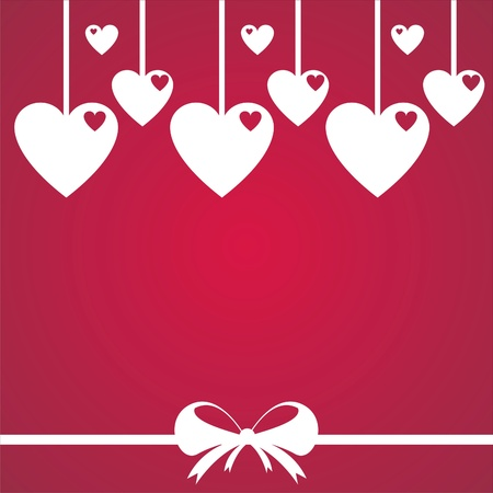 stylish st. valentine  day background Stock Vector - 12056034