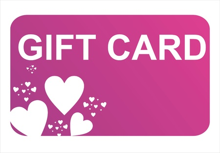 purple st. valentine day gift card Illustration