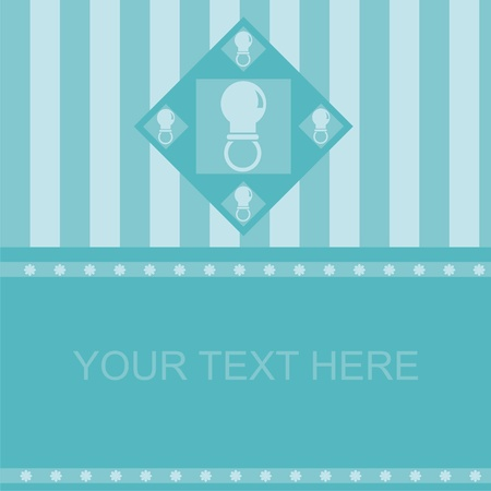 cute blue baby pacifiers frame
