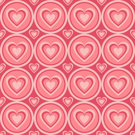 cute abstract hearts pattern Stock Vector - 12414167