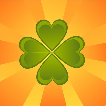 st. patrick s day background with clover Stock Vector - 12414184