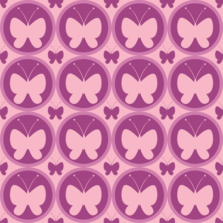 cute butterfly pattern Stock Vector - 12928680