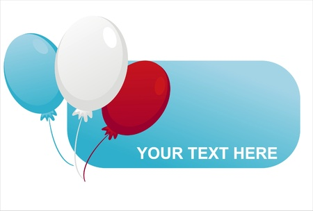 banner with american colored balloons