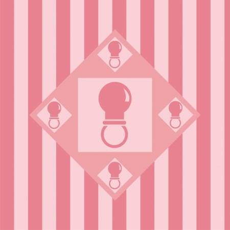 cute pink baby pacifiers background