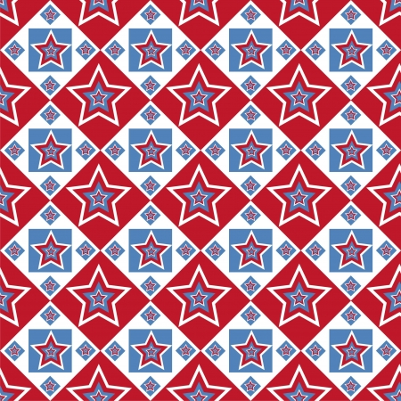cute american colored stars pattern Stock Vector - 13910741