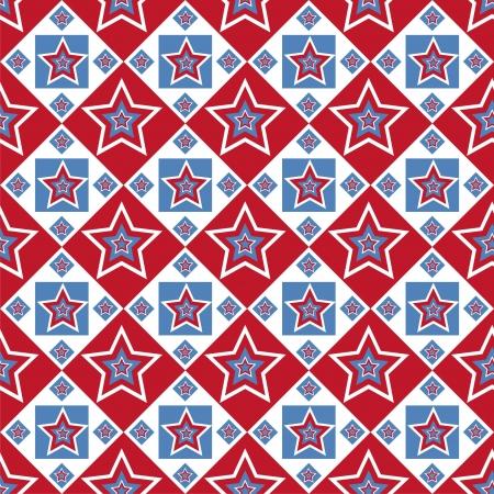 cute american colored stars pattern