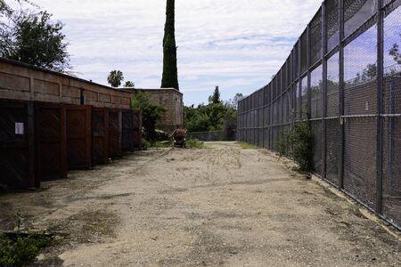 Alleyway of an abandoned asylum