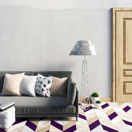 romance bed: Mock up wall in interior with  sofa. living room. resting place. modern style. 3d illustration