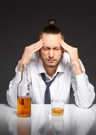 alcoholism: Addicted to alcohol, alcoholism concept, social problem