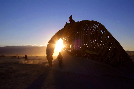 burning man: Wave Installation at Burning Man 2014