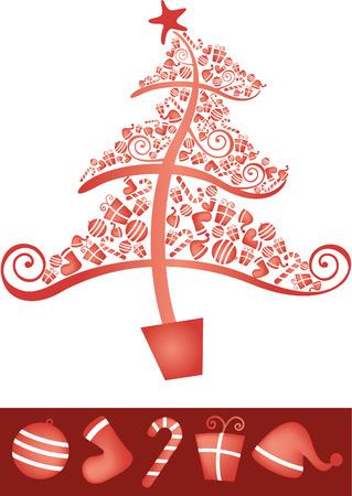 public celebratory event: Christmas Tree Ornaments Illustration