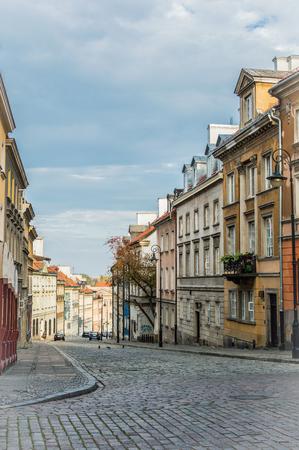 Warsaws historic stone street