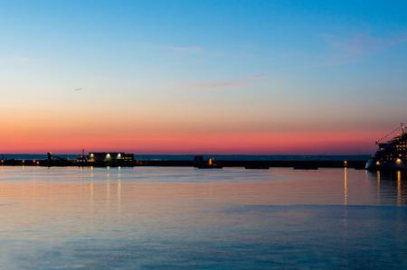 Beautiful sunrise sighted from the port of Palma de Mallorca