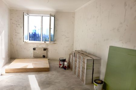 unfinished building: unfinished building of a  room