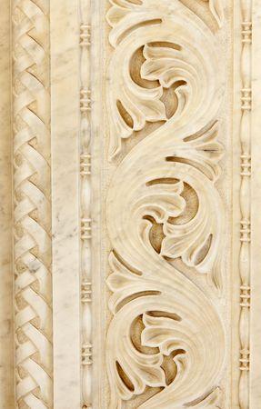 ancient decorative marble ornamental photo