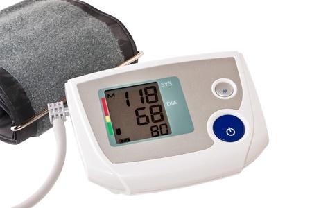 automatic digital blood pressure monitoring meter photo
