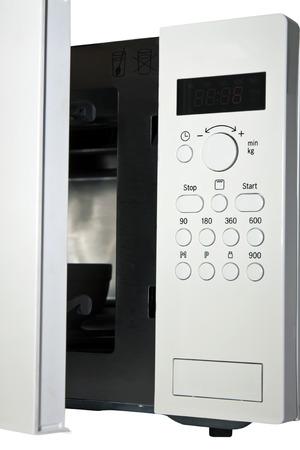 panel de control: Panel de control para el horno microondas Foto de archivo