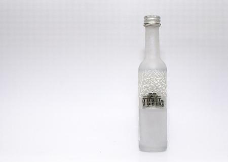 A white Vodka bottle