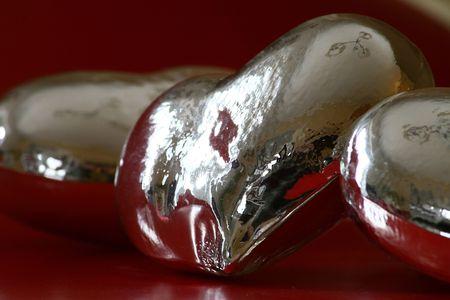 Christmas silver hearts 2