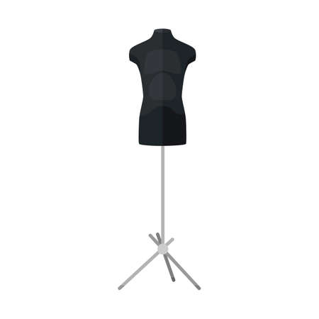Sartorial mannequins in black color isolated on a white background. Mannequins form the body of a kids. Silhouette of a person in the style of a flat vector illustration.