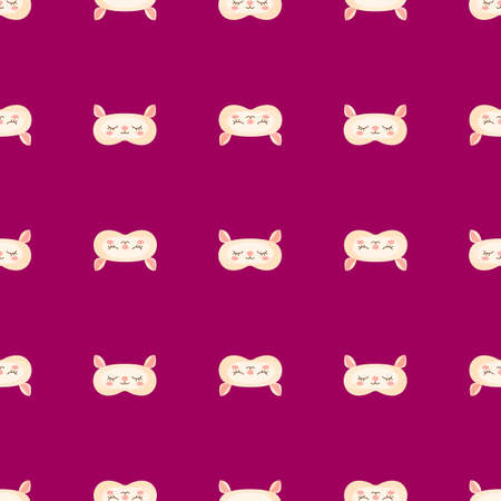 Lamb yellow color geometric seamless pattern on pink background. Children graphic design element for different purposes. Flat vector illustration.