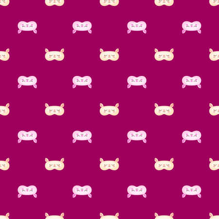 Lamb light pink and yellow color geometric seamless pattern on pink background. Children graphic design element for different purposes. Flat vector illustration.