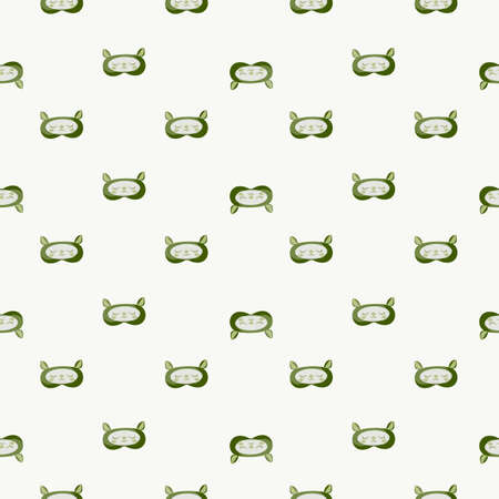 Lamb green color geometric seamless pattern on white background. Children graphic design element for different purposes. Flat vector illustration.