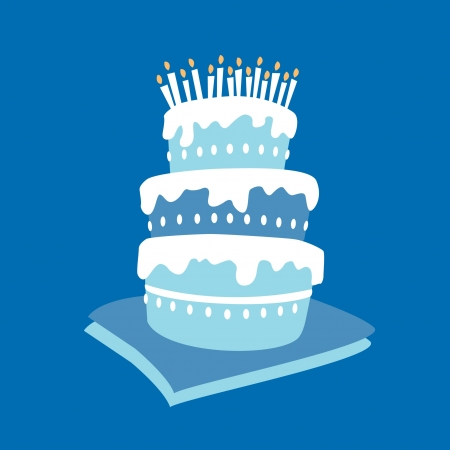 Birthday boy cake Stock Vector - 13835876