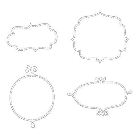 Doodle frames Illustration