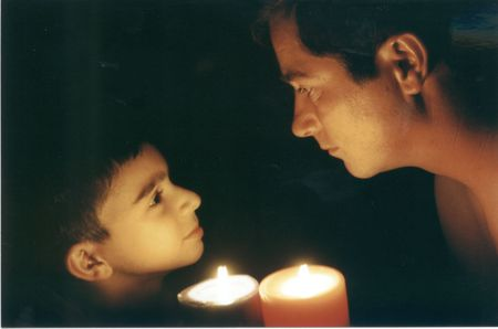 pappy: Father and Son by Candle Light