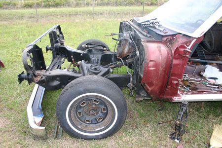 車のフロント エンドを剥奪