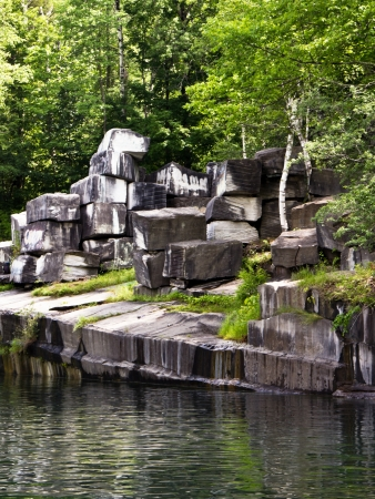 The oldest marble quarry in the U S is In Dorset, Vermont,  operational from 1785 to 1917  Foto de archivo