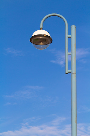lampost: lampost and blue sky Stock Photo
