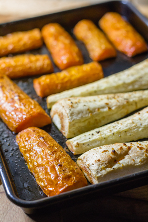 parsnips: roast carrots and parsnips