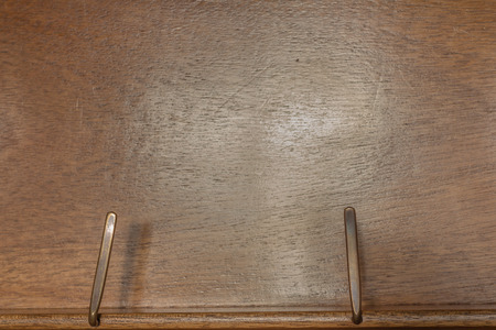lectern: empty lectern or music stand made of wood