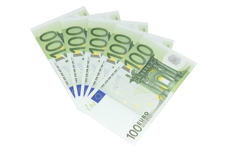 One Hundred European Bank Notes - isolated