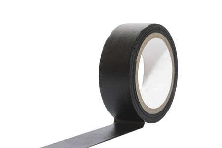 Black sticky tape Isolated On White Background