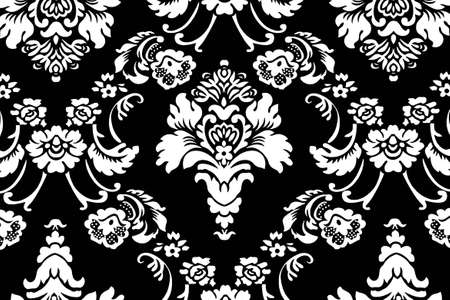 Background Floral Ornament Black And White Stock Photo