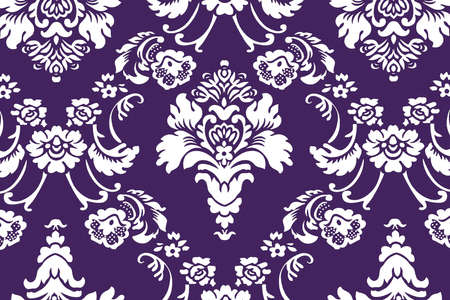 Background Floral Ornament Purple And White Stock Photo