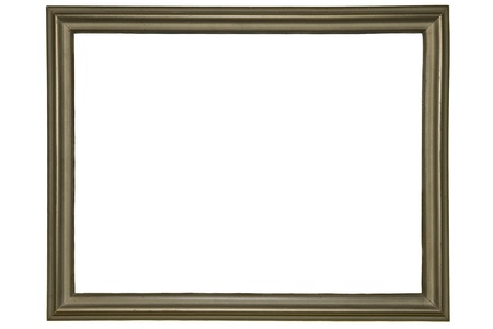 Old Frame Isolated On White Stock Photo