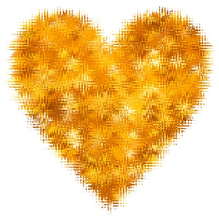 Abstract Heart Love For Valentines Day Yellow Gold