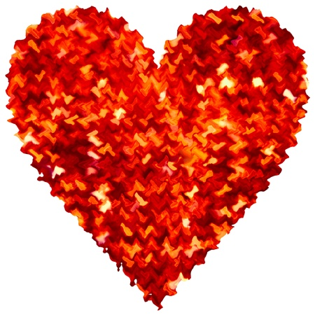 Abstract Heart Love For Valentines Day Red Gold