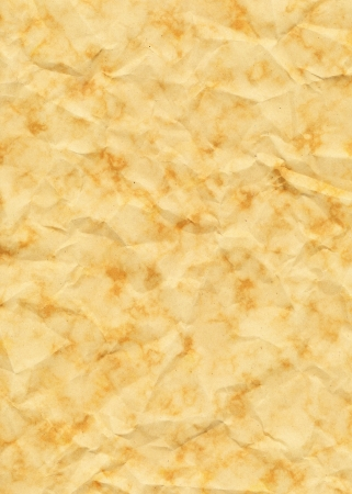 Old Yellowed Crinkled And Dappled Paper